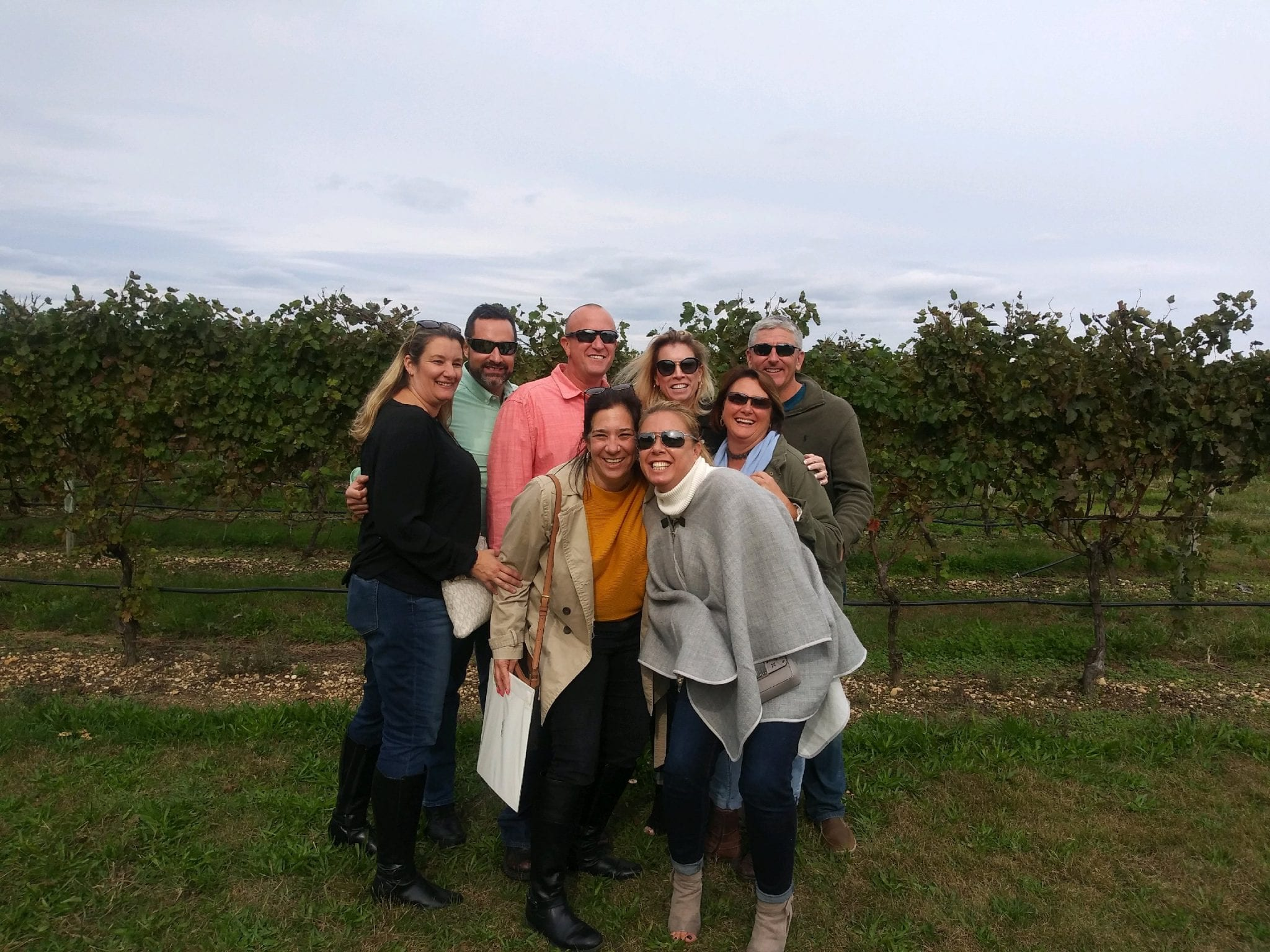 Enjoying Wine with Friends - LI Vineyard Tours