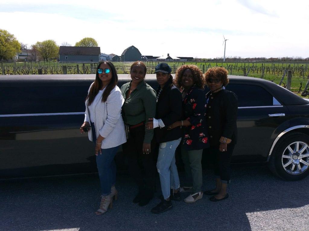 Photos in Long Island NY sampling Long Island Wine with LI Vineyard Tours®