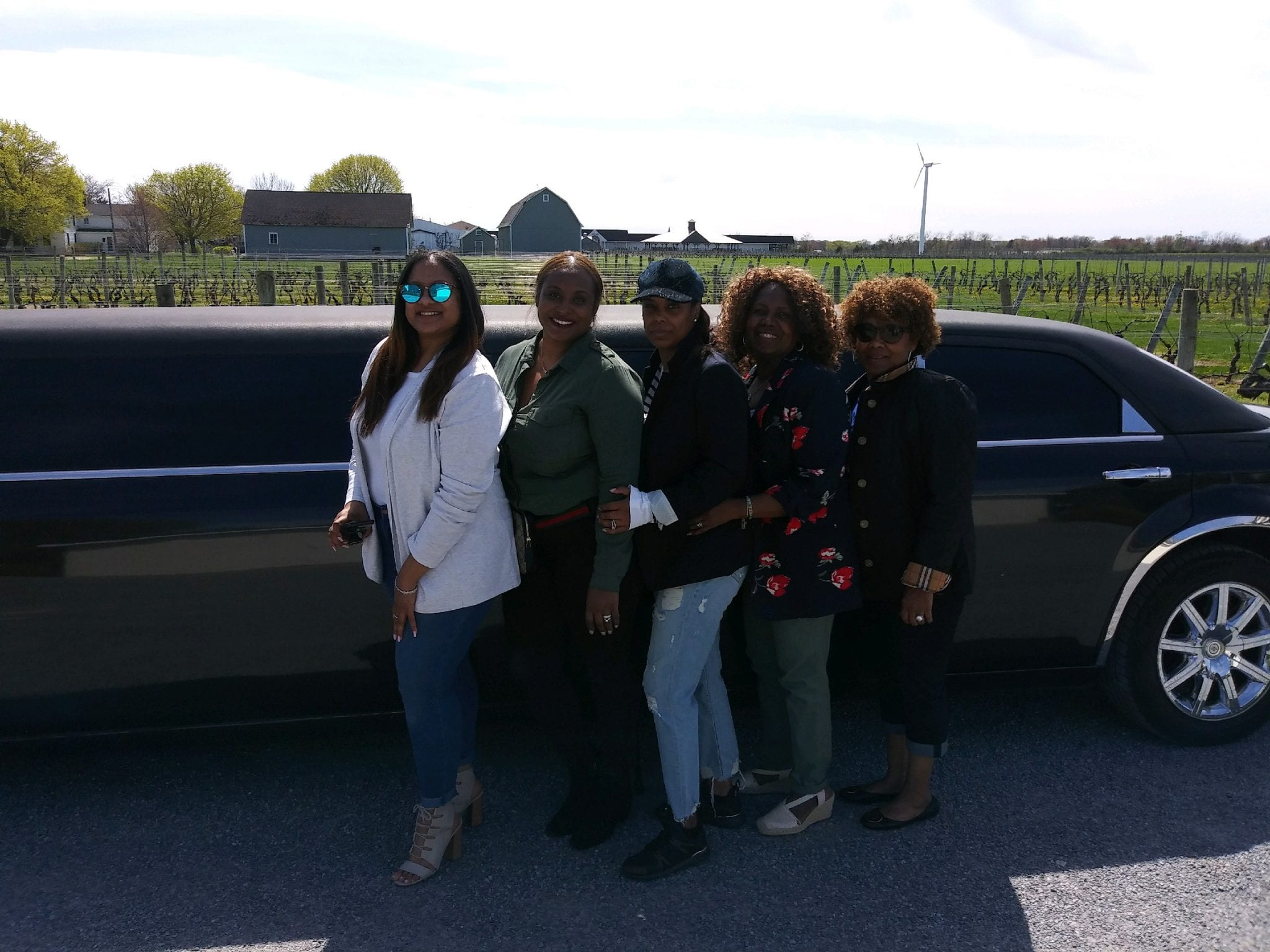 Photos in Long Island NY sampling Long Island Wine with LI Vineyard Tours®