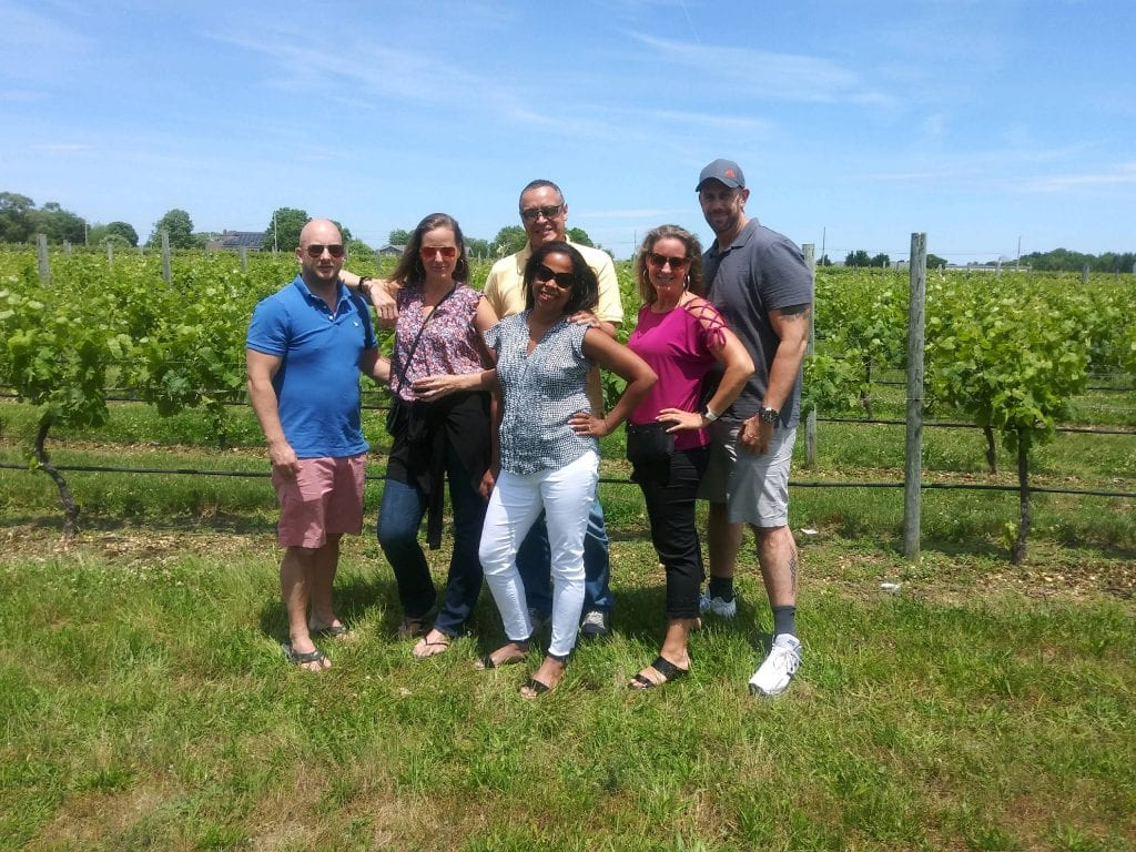 Sampling Wine with Friends in Long Island