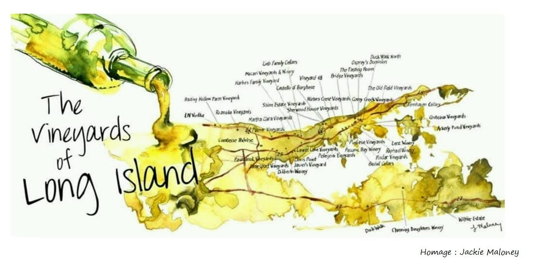 Long Island Winery Map LI Vineyards   Wine Tours   Wineries | Long Island Vineyard Tours