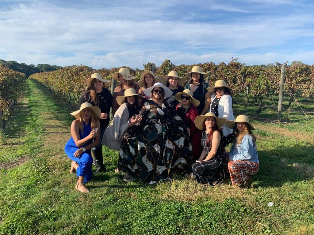 Wine Tasting with Friends During Harvest Season in Long Island